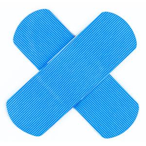 Haccp verbandmiddelen met blauwe kleur